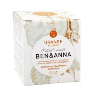 Ben&Anna, naturalna pasta do wrażliwych zębów z fluorem, ORANGE, ZERO WASTE, 100 ml (2)