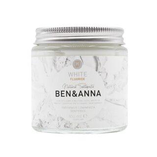 Ben&Anna, naturalna wybielająca pasta do wrażliwych zębów z fluorem, WHITE, ZERO WASTE, 100 ml (1)