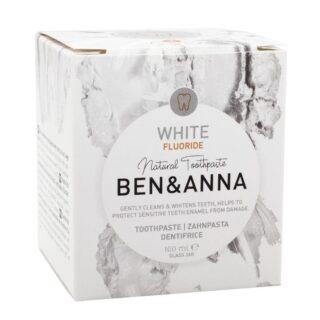 Ben&Anna, naturalna wybielająca pasta do wrażliwych zębów z fluorem, WHITE, ZERO WASTE, 100 ml (2)