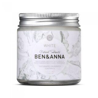 Ben&Anna, naturalna wybielająca pasta do wrażliwych zębów z szałwią i rokitnikiem, WHITE, ZERO WASTE, 100 ml (1)