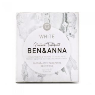 Ben&Anna, naturalna wybielająca pasta do wrażliwych zębów z szałwią i rokitnikiem, WHITE, ZERO WASTE, 100 ml (2)