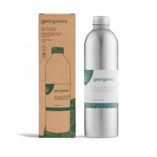 Georganics, olejek do płukania jamy ustnej, ZIELONA MIĘTA, naturalny, bez fluoru, 250 ml (1)