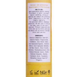 We Love The Planet, Sztyft przeciwsłoneczny SPF 30, 100% naturalnych składników, hipoalergiczny, 50g (2)