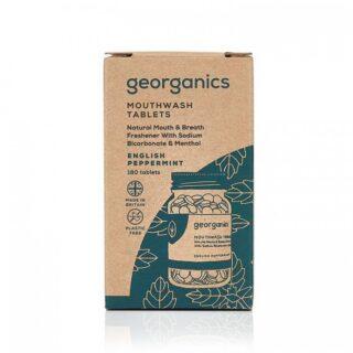 Georganics, tabletki do płukania jamy ustnej, POMARAŃCZE, odpowiednie dla dzieci, naturalne, 180 tabletek (2)