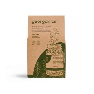 Georganics, tabletki do płukania jamy ustnej, DRZEWO HERBACIANE, odpowiednie dla dzieci, naturalne, UZUPEŁNIENIE, 720 tabletek (1)