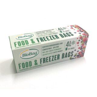 BioBag, woreczki do przechowywania i mrożenia żywności, bez bpa, kompostowalne, 4l, rolka 25 sztuk (1)