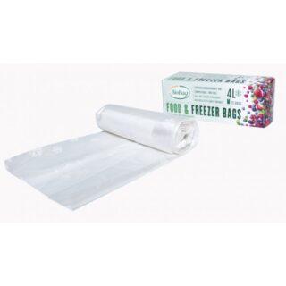BioBag, woreczki do przechowywania i mrożenia żywności, bez bpa, kompostowalne, 4l, rolka 25 sztuk (2)