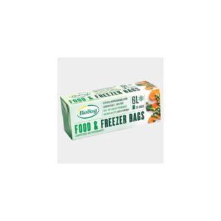 BioBag, woreczki do przechowywania i mrożenia żywności, bez bpa, kompostowalne, 6l, rolka 20 sztuk (1)