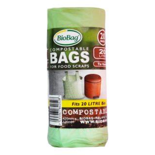 BioBag, worki na odpady organiczne i zmieszane, w 100% biodegradowalne i kompostowalne, 20l, rolka 20 sztuk (1)