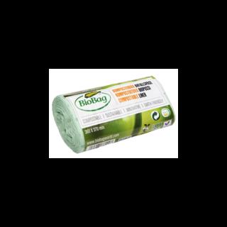 BioBag, worki na odpady organiczne i zmieszane, w 100% biodegradowalne i kompostowalne, 6l, rolka 30 sztuk (1)