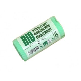 BioBag, worki na odpady organiczne i zmieszane, w 100% biodegradowalne i kompostowalne, 8l, rolka 25 sztuk
