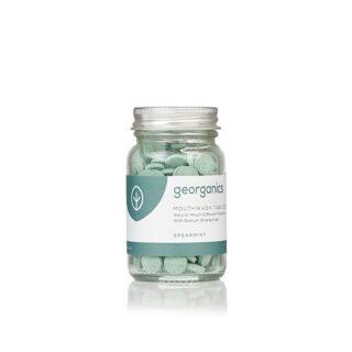 Georganics, tabletki do płukania jamy ustnej, zielona mięta, naturalne, 180 tabletek (1)