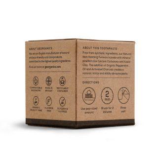 Ekologiczna pasta do zębów Georganics, WĘGIEL AKTYWNY, naturalna, mineralna, 120 ml (2)
