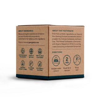 Georganics pasta do zębów, ANGIELSKA MIĘTA PIEPRZOWA, naturalna, mineralna, 120 ml (2)