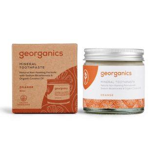 pasta do zębów Georganics, POMARAŃCZE, odpowiednia dla dzieci, naturalna, mineralna, 60 ml (2)