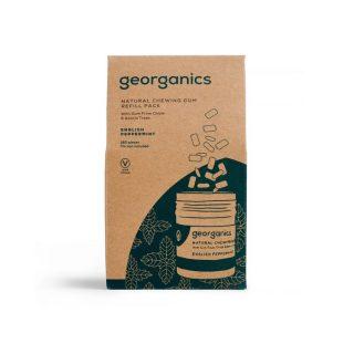 Georganics, naturalna guma do żucia, mięta pieprzowa, uzupełnienie, 180 szt.