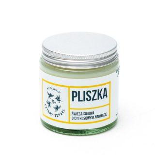 Mydlarnia Cztery Szpaki, Pliszka – naturalna świeca sojowa, cytrynowa, 100 g (1)