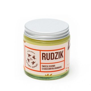 Mydlarnia Cztery Szpaki, Rudzik – naturalna świeca sojowa, korzenna, 100 g (1)