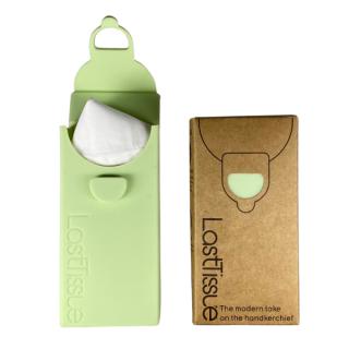 LastObject, wielorazowe chusteczki z bawełny organicznej 6 szt. – LastTissue – w zielonym etui (2)