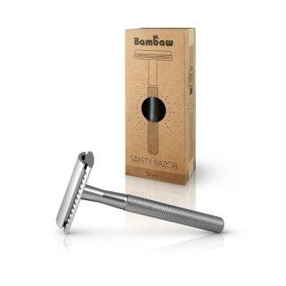 Bambaw, wielorazowa maszynka do golenia, SREBRNA